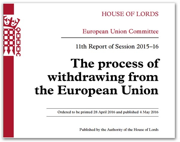 Article 50. Eu referendum the only
