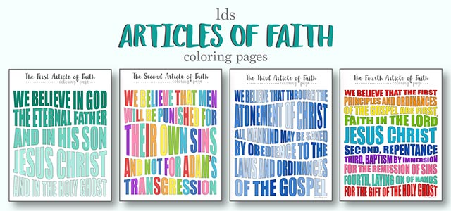 Articles of faith clipart png free LDS Articles of Faith Coloring Pages | Live Craft Eat png free