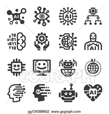 Artifical intelligence clipart clipart free stock Vector Stock - Artificial intelligence icon. Clipart Illustration ... clipart free stock