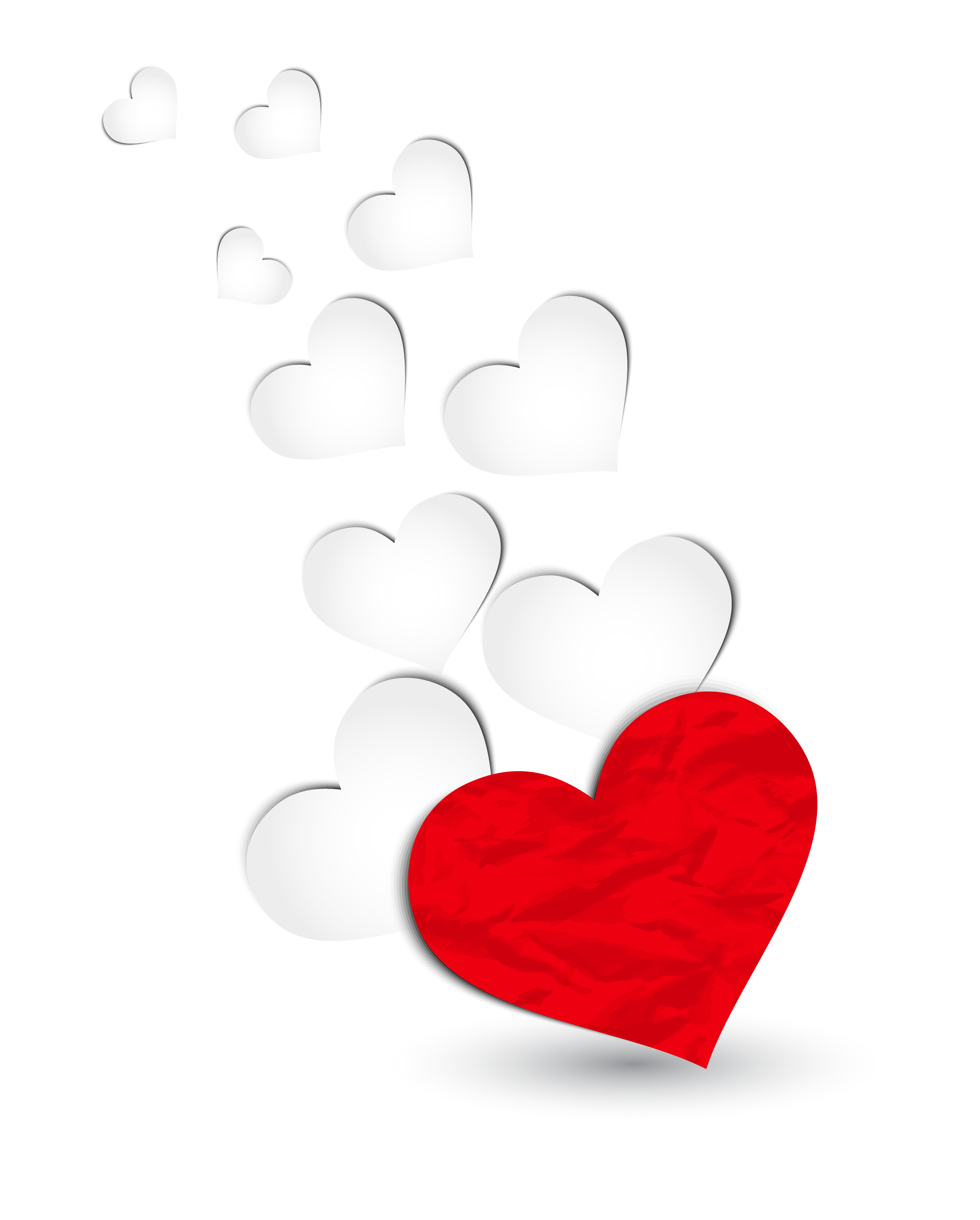 Red and White Hearts Decoration PNG Clipart Picture | Love / Hearts ... banner library