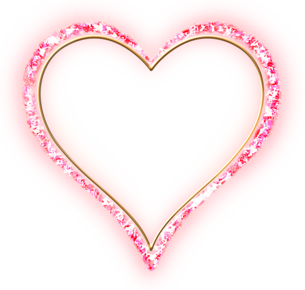 Rose gold heart clipart banner royalty free stock Pink Diamond Transparent Frame Gold Heart | Clip Art (Hearts 1 ... banner royalty free stock
