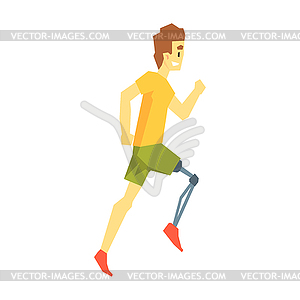 Artificial legs clipart clip art transparent download Guy Running With Artificial Leg, Young Person With - vector clipart clip art transparent download