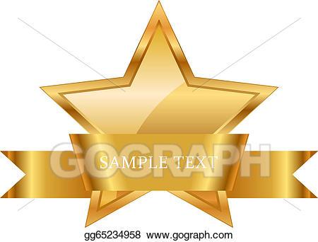 Artist award clipart jpg royalty free Vector Art - Gold star award with shiny ribbon . EPS clipart ... jpg royalty free