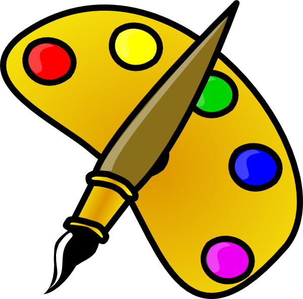 Color palette clipart