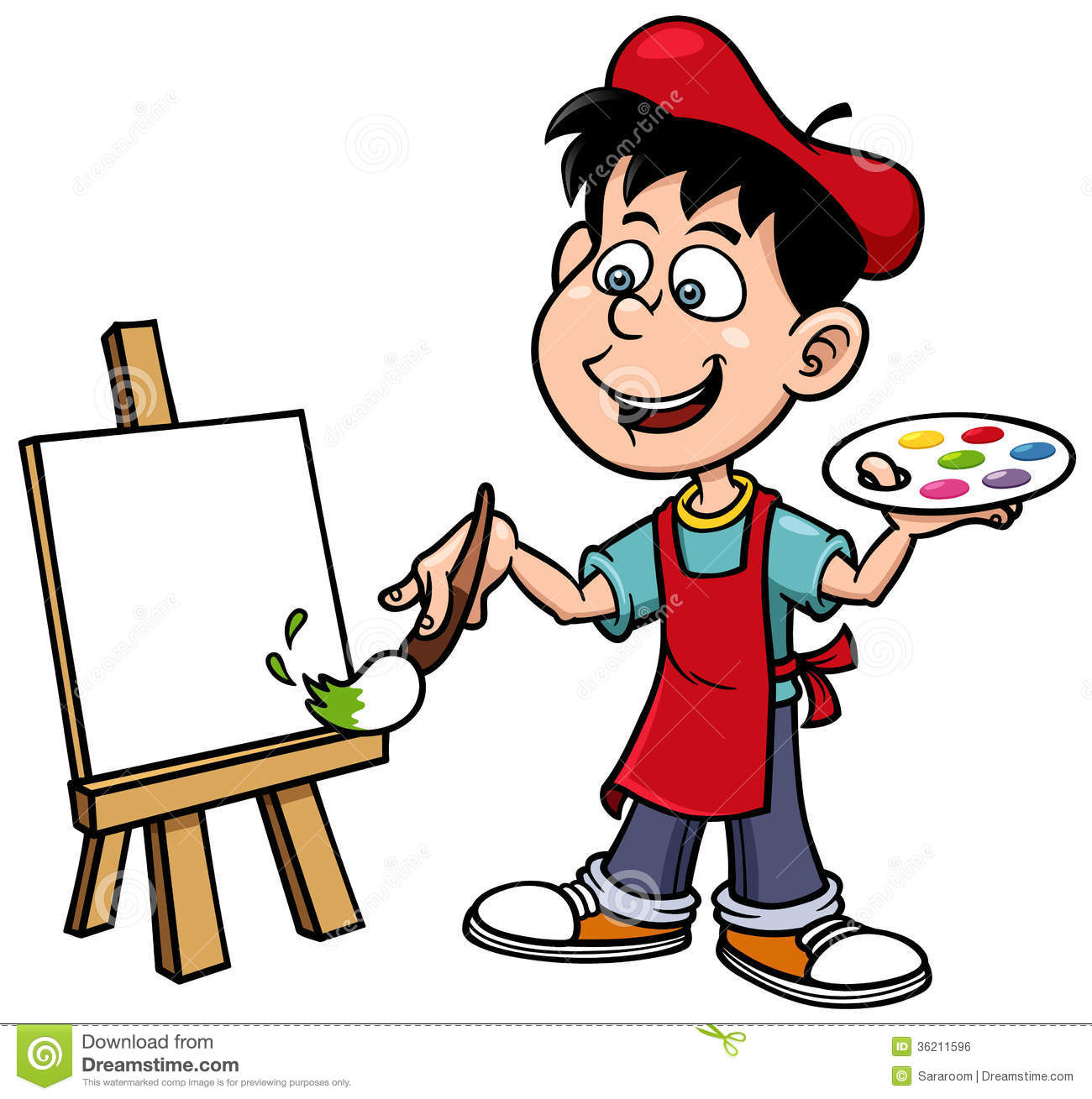 Cartoon painting clipart free library 73+ Artist Clipart | ClipartLook free library