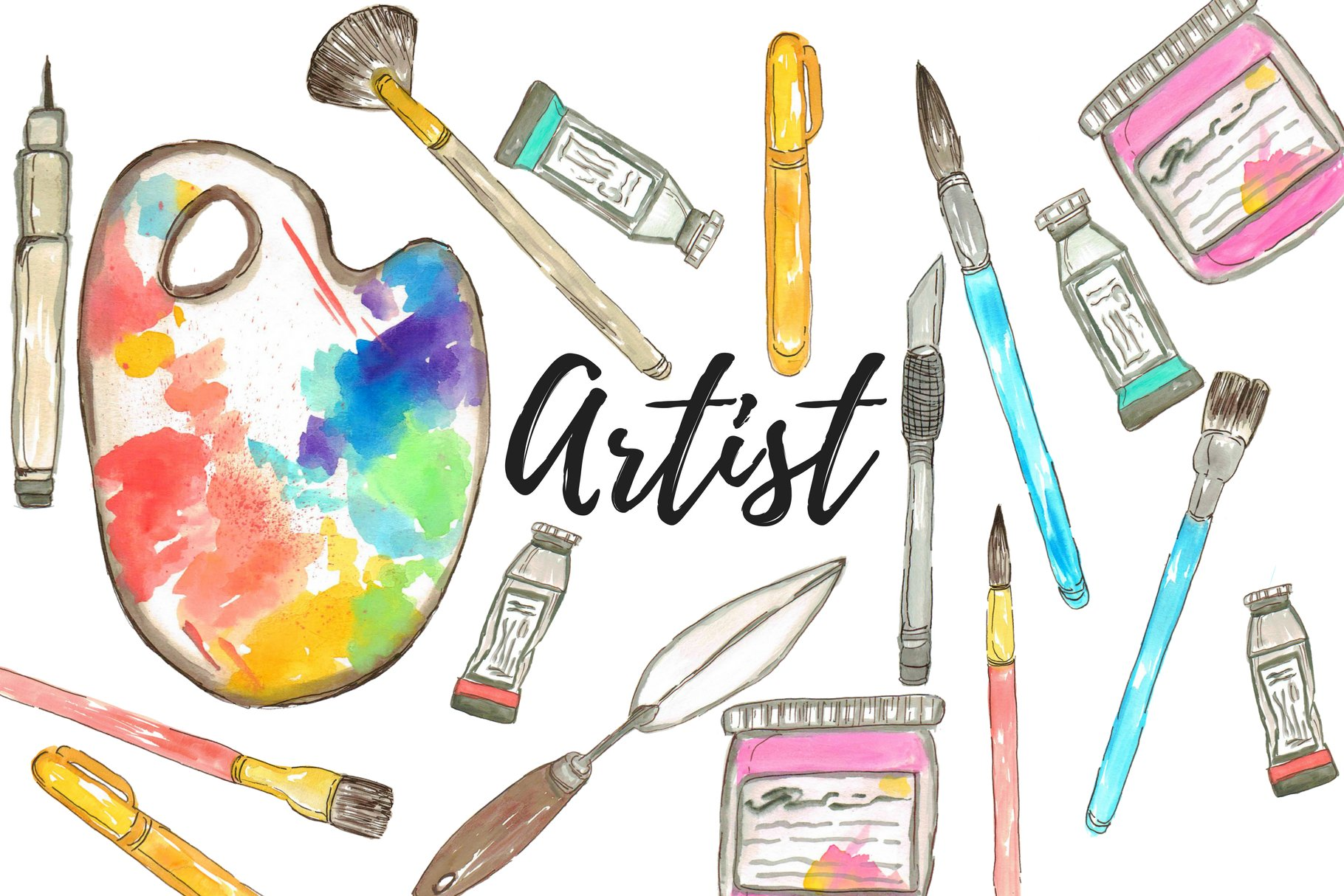 Artistyt clipart image royalty free download Watercolor Artist Clipart image royalty free download