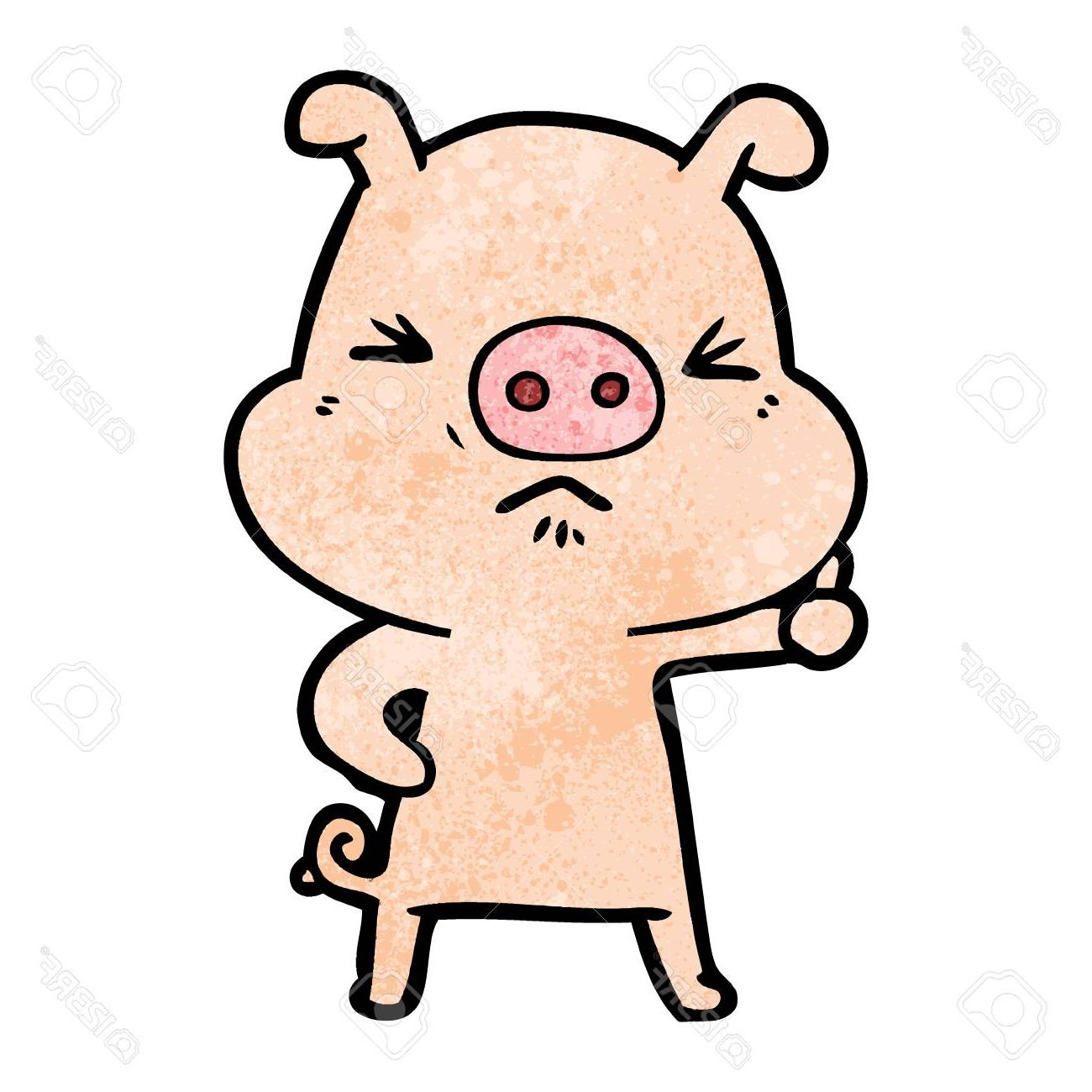 Artist clipart vector drawing clipart royalty free stock HD Angry Pig Vector Drawing » Free Vector Art, Images, Graphics ... clipart royalty free stock