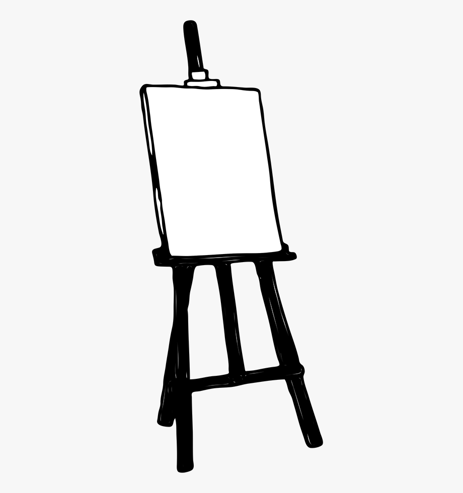 Artist easel clipart image black and white download Easel Cliparts - Transparent Background Easel Clip Art #364216 ... image black and white download