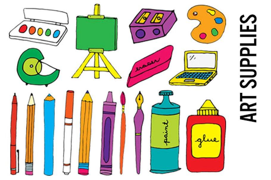 Clipart artist supplies library Art Supplies Clip Art - Hi Res PNGs library