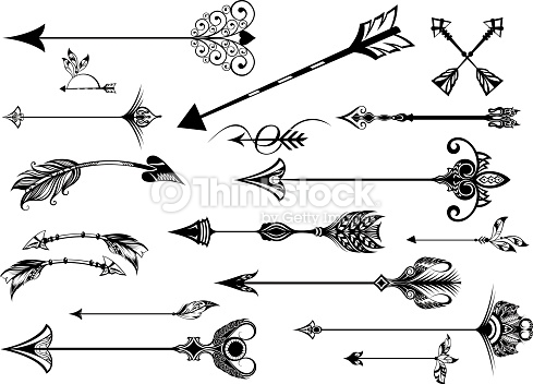 Set of cute hipster. Artistic arrows