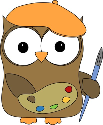 Artistic clip art clip art library Owl French Artist Painter Clip Art Image - owl wearing a french ... clip art library