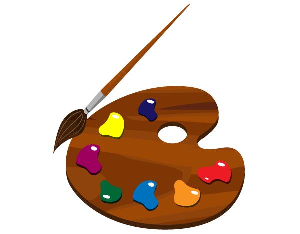 Artistic clipart vector library Paint Palette Clip Art Free | 123Freevectors vector library