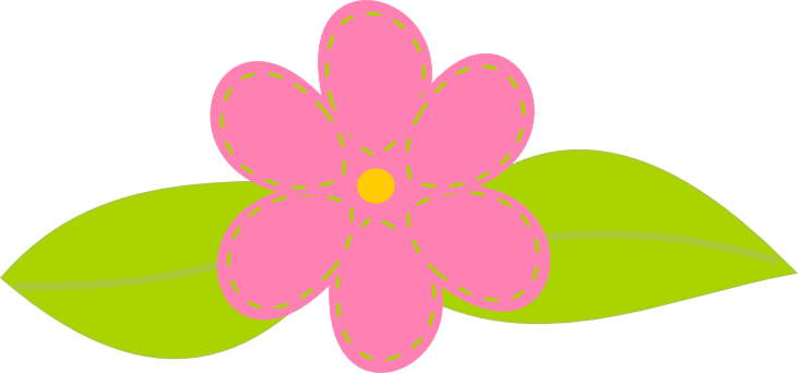 Flower kid clip art. Artistic clipart no background