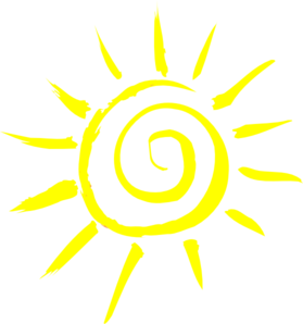 Sun kid with transparent. Artistic clipart no background