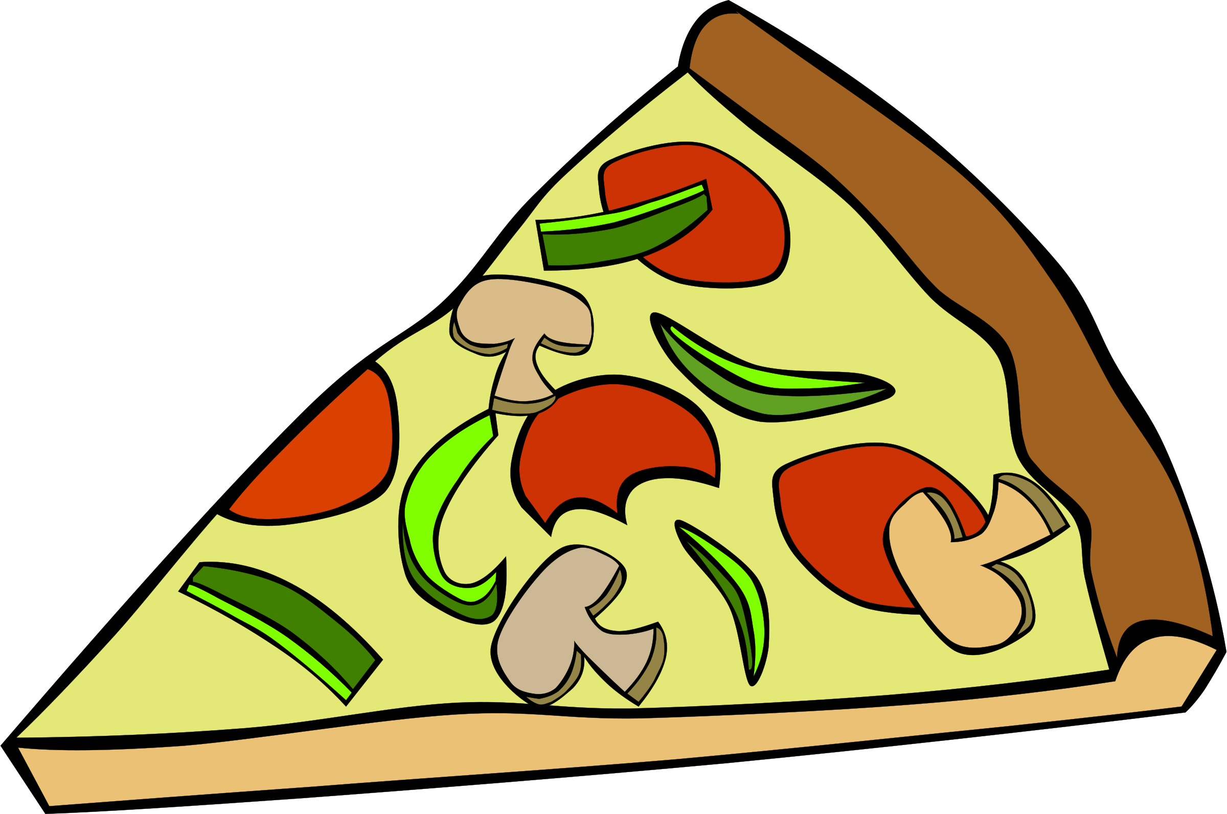 Triangle clipartfest pizzasliceclipart . Artistic clipart no background