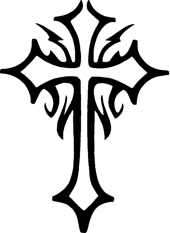Cross clipart wood clip royalty free download tribal cross tattoos | tattoo cross. Glitter Tattoo Stencil Cross ... clip royalty free download