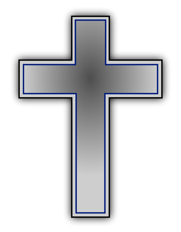 Thin blue line cross clipart svg library Grey Cross Clip Art | Clipart Panda - Free Clipart Images svg library