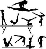Artistic gymnastics clipart image black and white stock Gymnastics Clip Art - Royalty Free - GoGraph image black and white stock