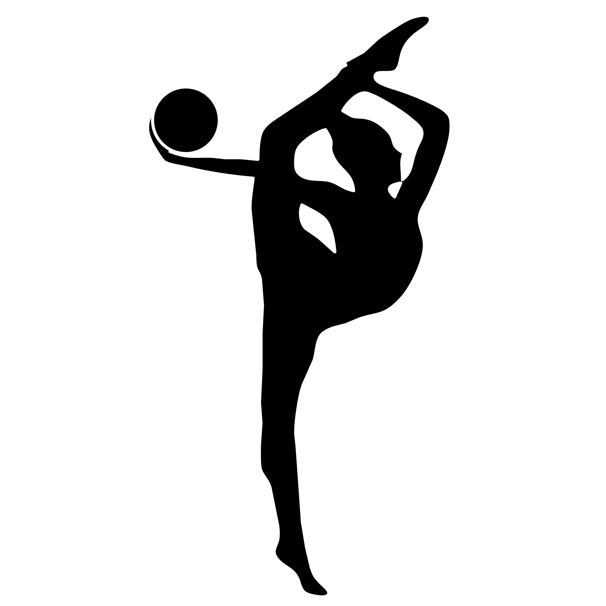 Vault gymnastics clipart transparent download Gymnastics Silhouettes Transparent | Free Download Clip Art | Free ... transparent download
