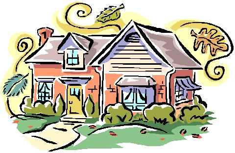 Artistic house clipart black and white stock Artistic house clipart - ClipartFest black and white stock