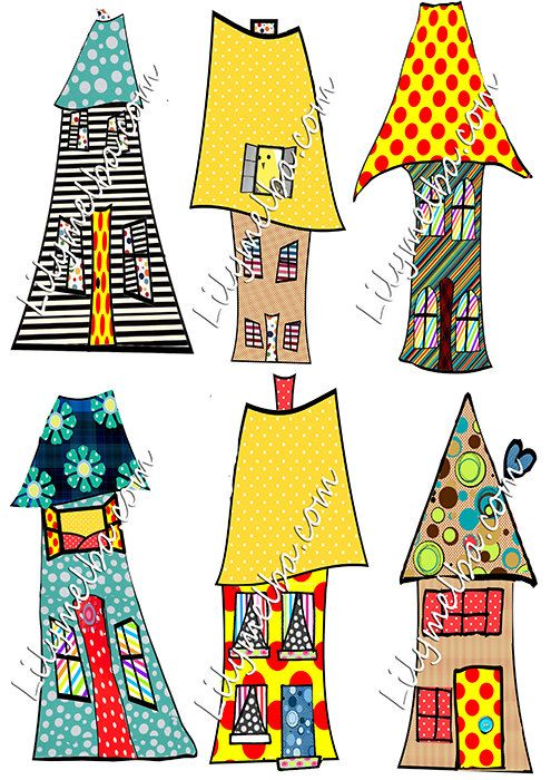 Artistic house clipart svg House, Collage sheet and Etsy on Pinterest svg