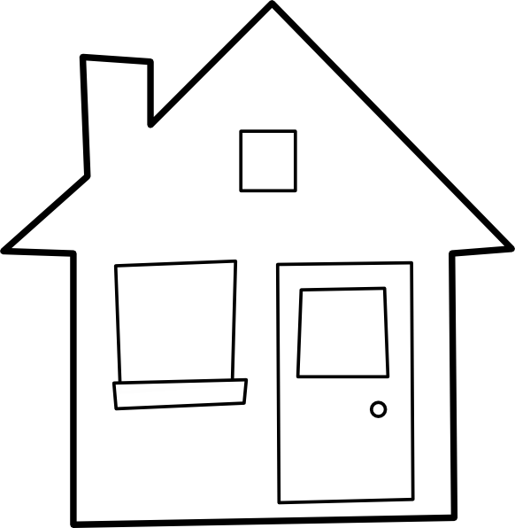 Old house clipart black and white image free Artistic White House Clipart - Cliparts and Others Art Inspiration image free