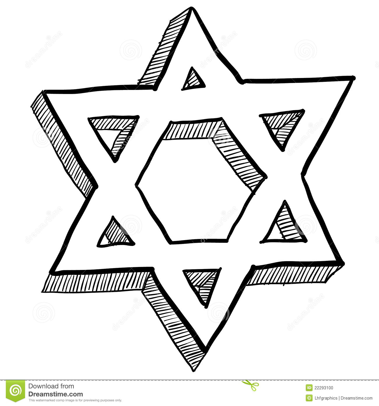 Artistic jewish star clipart vector transparent library Jewish Star Of David Illustration Stock Photo - Image: 22293100 vector transparent library