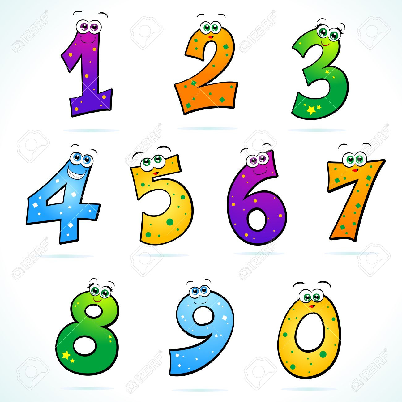 Artistic numbers clipart freeuse library Funny Numbers Clipart freeuse library