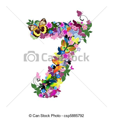 Artistic numbers clipart image free library Number 7 Illustrations and Clipart. 4,734 Number 7 royalty free ... image free library
