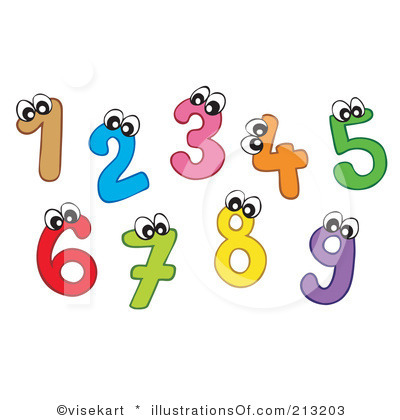 Artistic numbers clipart banner black and white library Clip Art Numbers 1-10 Clipart - Clipart Kid banner black and white library