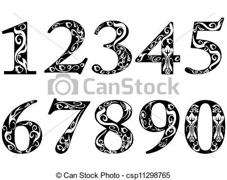 Artistic numbers clipart clip art free library Number Illustrations and Clipart. 297,112 Number royalty free ... clip art free library