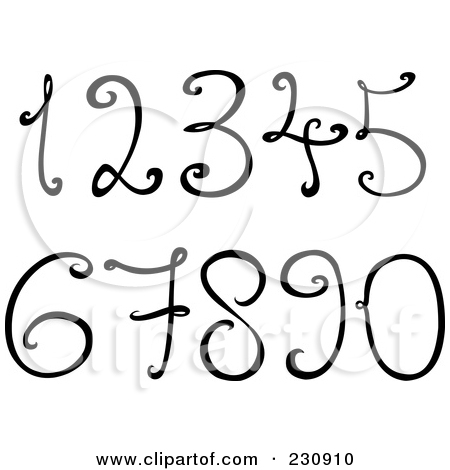 Artistic numbers clipart clip art library download Six Posters & Six Art Prints #6 clip art library download