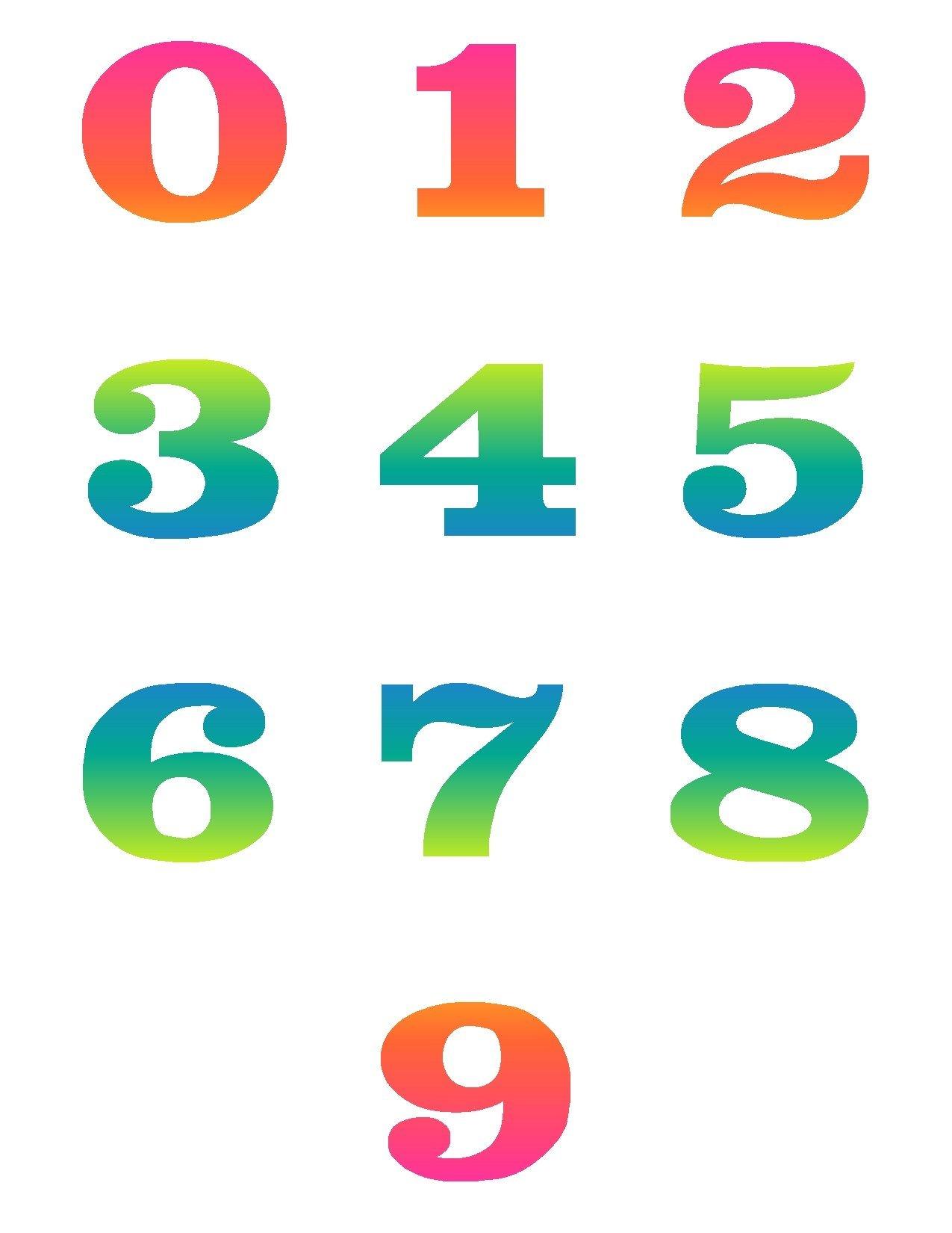 Artistic numbers clipart vector download Artistic numbers clipart - ClipartFest vector download