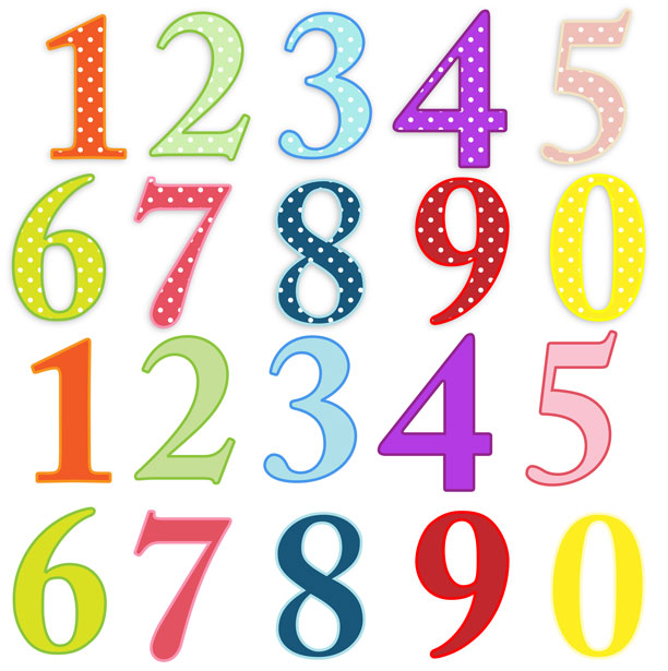 Artistic numbers clipart vector black and white library Clip Art Numbers 1-10 Clipart - Clipart Kid vector black and white library