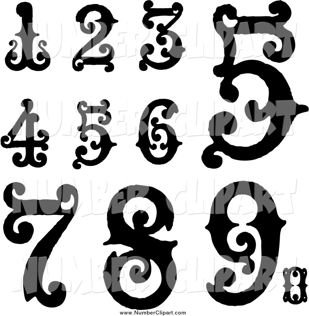 Artistic numbers clipart jpg free stock Artistic numbers clipart - ClipartFox jpg free stock