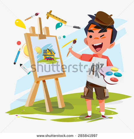 Artistic person clipart. Clip art for creative
