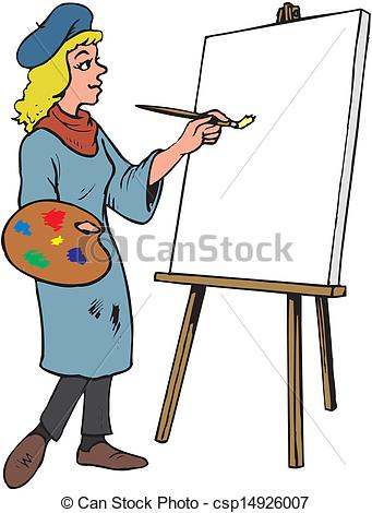 Artist clip art woman. Artistic person clipart
