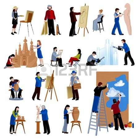 Artistic person clipart. Clip art people free