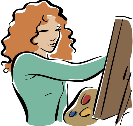 Artistic person clipart. Clipartfest painting