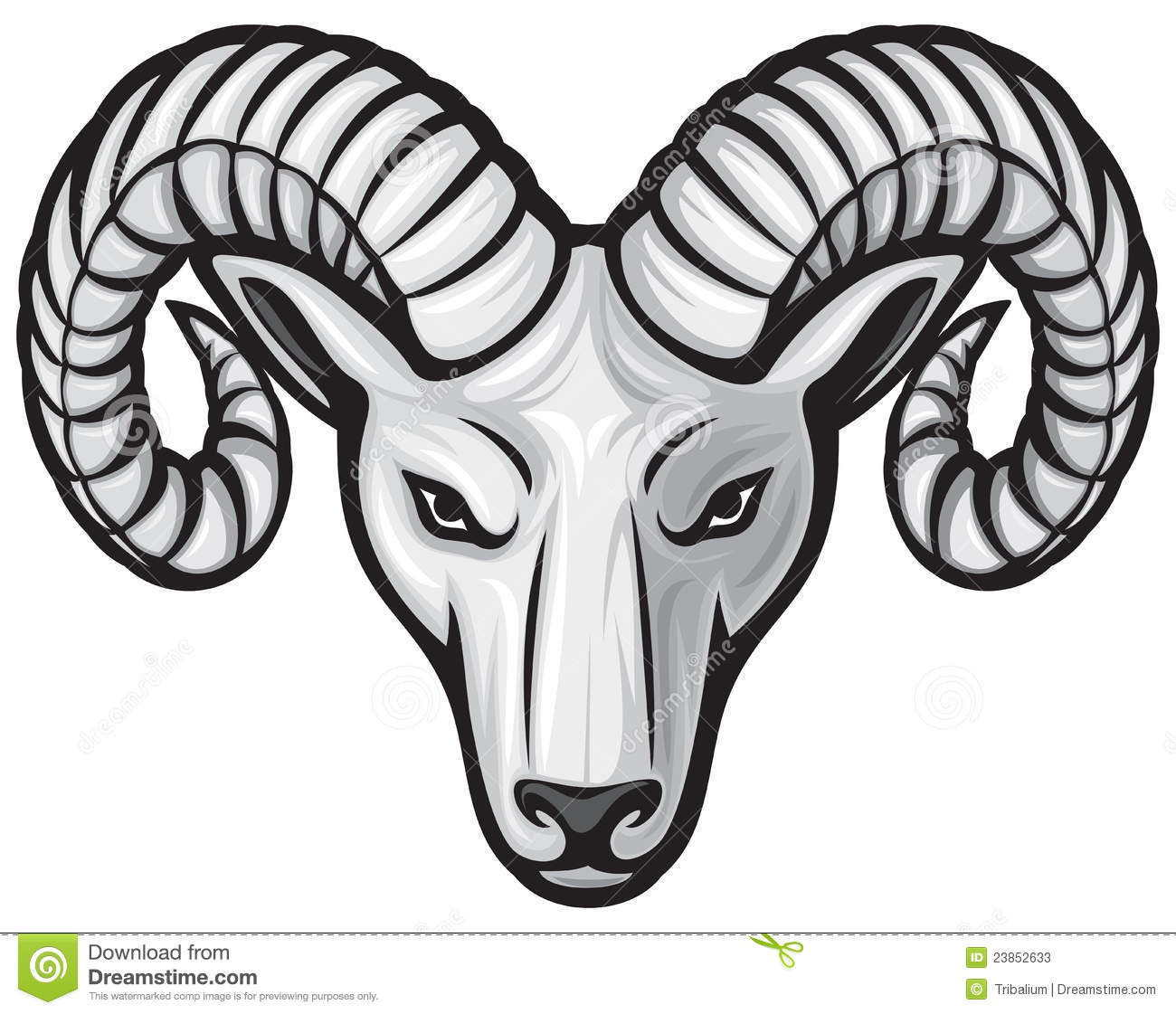 Artistic ram head clipart black and white clip art download Ram Head Stock Photos - Image: 23852633 clip art download