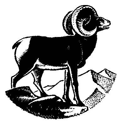Artistic ram head clipart black and white graphic black and white stock Free Black and White Goat Clipart, 1 page of Public Domain Clip Art graphic black and white stock