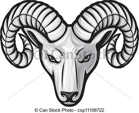 Artistic ram head clipart black and white svg download Vector - head of the ram (ram head) - stock illustration, royalty ... svg download