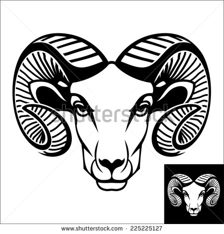 Artistic ram head clipart black and white clipart royalty free Ram Head Stock Images, Royalty-Free Images & Vectors | Shutterstock clipart royalty free