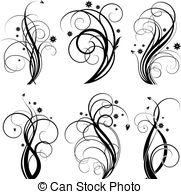 Illustrations and clip art. Artistic swirls clipart