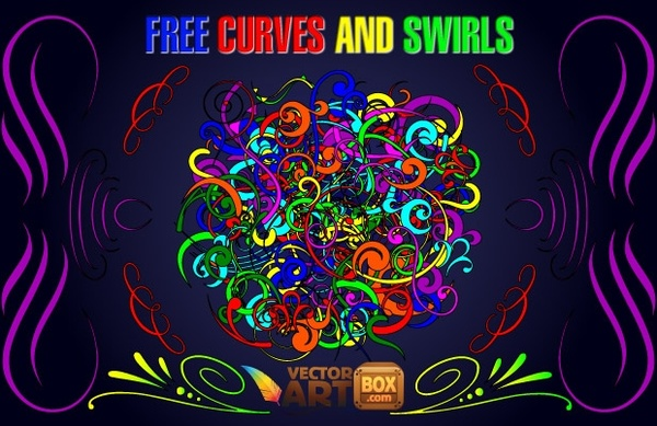Artistic swirls clipart vector library stock Curves and Swirls Clip Art Free vector in Adobe Illustrator ai ... vector library stock