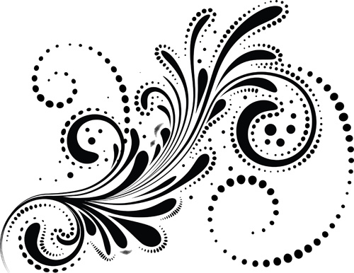Free decorative swirl vector. Artistic swirls clipart