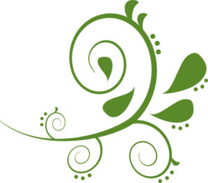 Artistic swirls clipart. Green kid paisely swirl