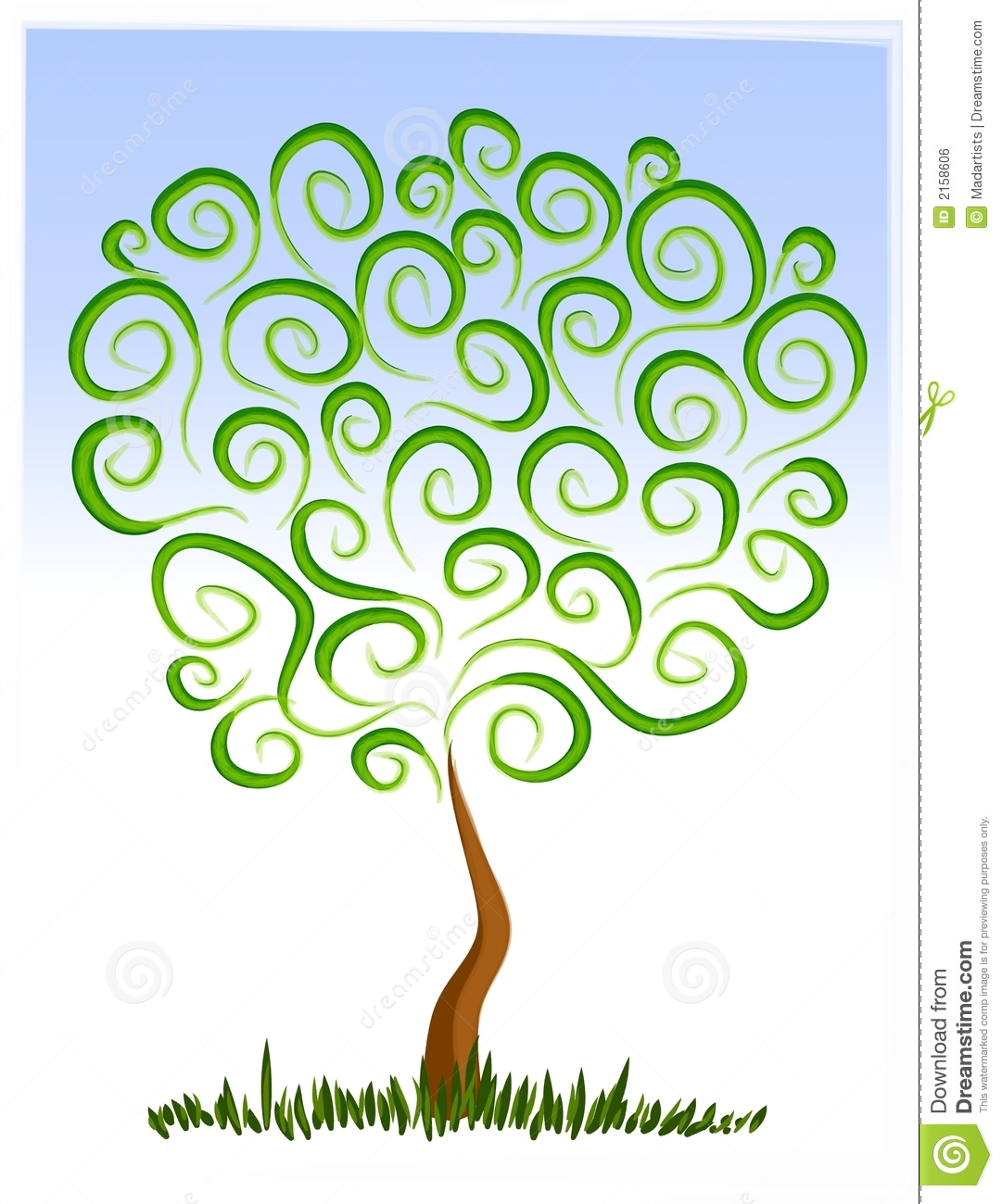 Artistic tree clipart clipart transparent library Artistic tree clipart - ClipartFest clipart transparent library