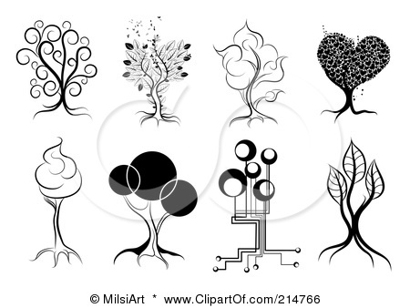 Artistic tree clipart clipart black and white 10+ images about trees on Pinterest | Natal, Folk art and Winter ... clipart black and white