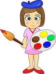 Artistic woman clipart jpg transparent download Girl Artist Clip Art image tips jpg transparent download